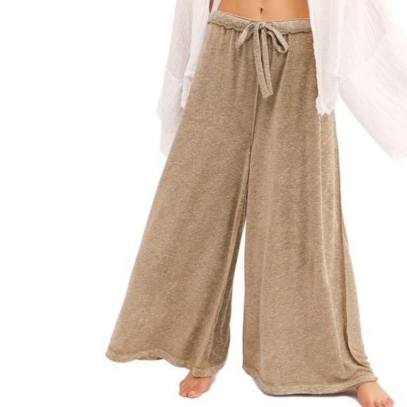 Free People Pants Jumpsuits Make It Maxi Wide Leg Pants Size L Poshmark